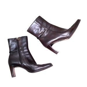Etienne Aigner heeled leather boots sz 6.5